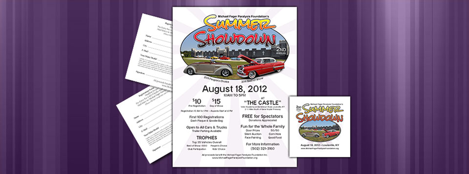 2012 Summer Showdown Car Show Graphics.